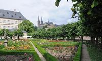 der beliebte Bamberger Rosengarten