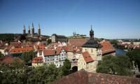 Blick auf Bambergs Bergstadt - Teil des Weltkulturerbes